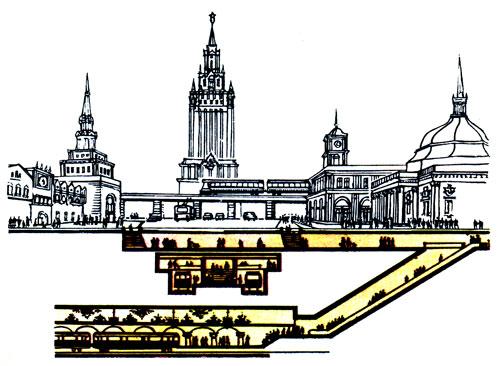 Схема развития подземных
