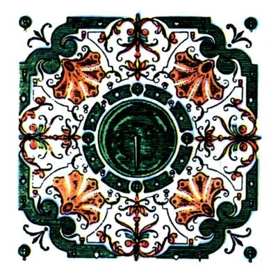 Версаль, Франция.  Фрагмент плана парка.